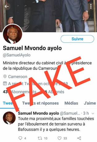 attention le in twitter at samuelayolo nest pas le compte du directeur du cabinet civil cest un faux compte