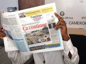Non, la SOPECAM ne dispose pas encore d'archives en ligne de Cameroon Tribune