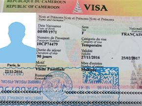 Are Cameroon's visa fees above €100 in the country's embassy in Paris?
