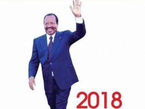 No, this is not Paul Biya's official poster for the coming presidential campaign