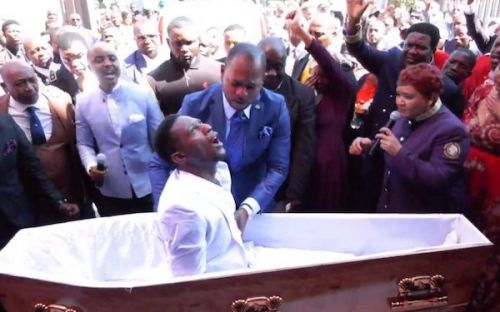 "No, this video showing a pastor ""bring the dead back to life"" was not shot in Cameroon"