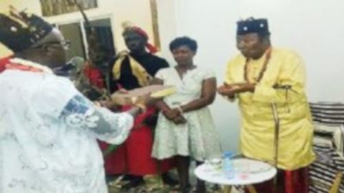 Nfon Mukete cedes the throne of the Bafaw Chieftaincy to his son