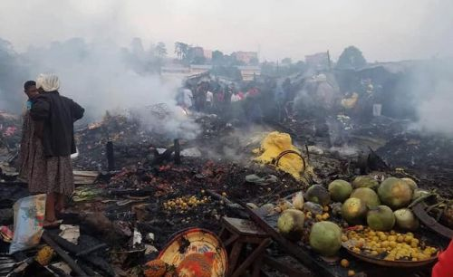 Yes, the Bamenda food market burned down today November 29