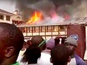 Has there been an arson at Sacré Cœur School in New-Bell?