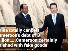 No, Cameroon's debt to China has not been cancelled