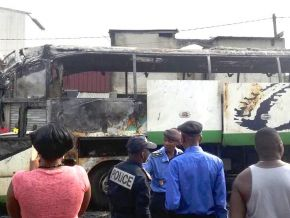 Yes, a bus of FINEXS caught fire on January 14, 2018, in Douala