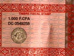 Yes, fake fiscal stamps are being sold again in Cameroon