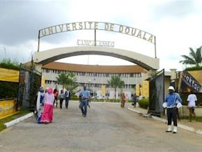 Is it true that students of Douala University had to pay dissertation fees to support their masters' thesis?