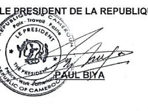 Yes, the constitution allows the president of the republic to delegate his signature to the general secretary of the presidency